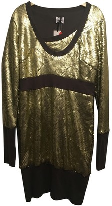 Preen Gold Polyester Dresses