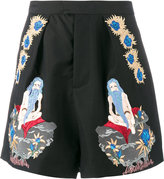 Edward Crutchley embroidered shorts