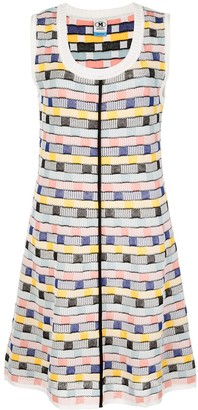 M Missoni Abstract Pattern Mini Dress