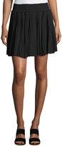 Joie Bridger Smocked Mini Skirt, Black
