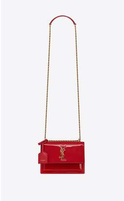 Saint Laurent Sunset Small In Patent Leather
