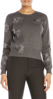 Jil Sander Metallic Embroidered Wool Sweater
