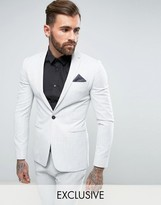 Religion Super Skinny Suit Jacket In Pale Grey