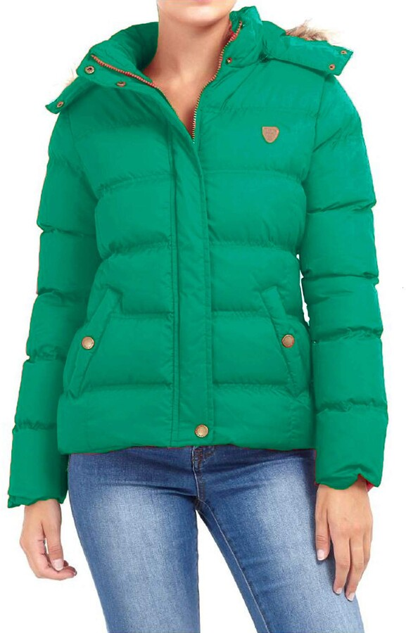 Thumbnail for your product : Brave Soul LJK HOPP JKTD Ladies Jacket Jade Green - UK 10 - Small