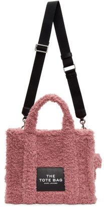 Marc Jacobs Pink Sherpa The Small Traveler Tote