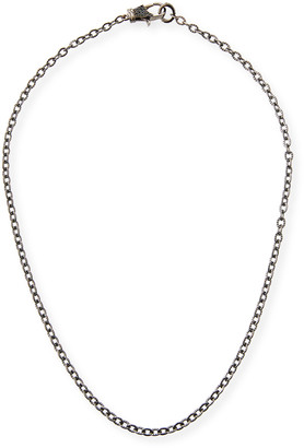 Margo Morrison Rhodium-Plated Sterling Silver Chain Necklace with Spinel Clasp, 18""