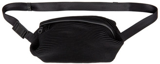 Pleats Please Issey Miyake Black Bias Pleats Waist Bag