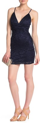 Love, Nickie Lew Lace Back Cutout Bodycon Dress
