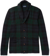 Polo Ralph Lauren Blackwatch checked Shawl-Collar Wool Cardigan