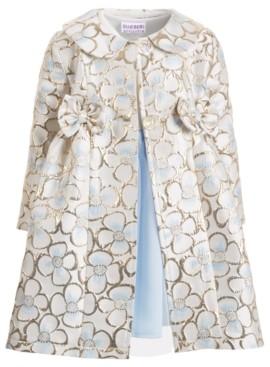 Blueberi Boulevard Little Girls 2-Pc. Floral Brocade Coat & Dress Set