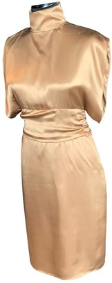 CNC Costume National Gold Silk Dress for Women Vintage