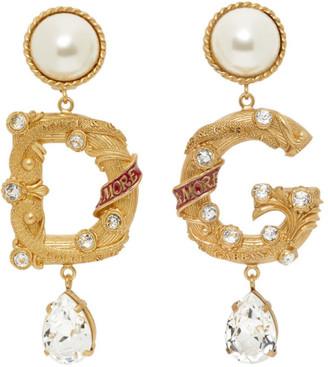 Dolce & Gabbana Gold City Jewel Clip-On Earrings