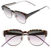 Christian Dior Women's Spectra 53Mm Cat Eye Sunglasses - Brown/ Havana