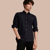 Burberry Check Jacquard Cotton Shirt