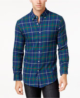 John Ashford Men's Big and Tall Long-Sleeve Tartan Plaid Shirt, Only at Macy's