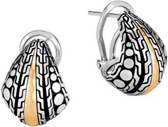 John Hardy Dot Hammered Buddha Belly Earrings