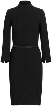 Akris Belted Sheath Dress