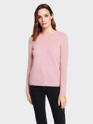 White + Warren Cashmere Ribbed Crew