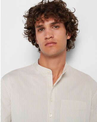 Club Monaco Short Sleeve Striped Popover