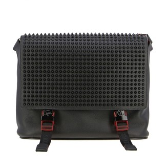Christian Louboutin Messenger Bag In Leather With Studs