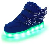Ewlan Kids LED light up shoes USB charging sneakers 7 colors 11 modes for kids boys girls