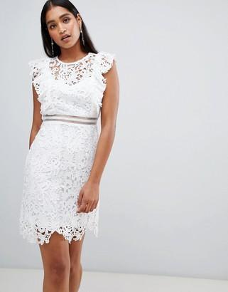 Liquorish lace dress-White