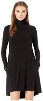 Norma Kamali Kamalikulture By KAMALIKULTURE by Long Sleeve Turtle Swing Dress (Black) Women's Dress