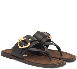 Stella McCartney Faux leather thong sandals