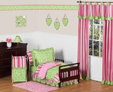 Sweet Jojo Designs Pink and Green Olivia Girls Boutique Toddler Bedding 5 pc set