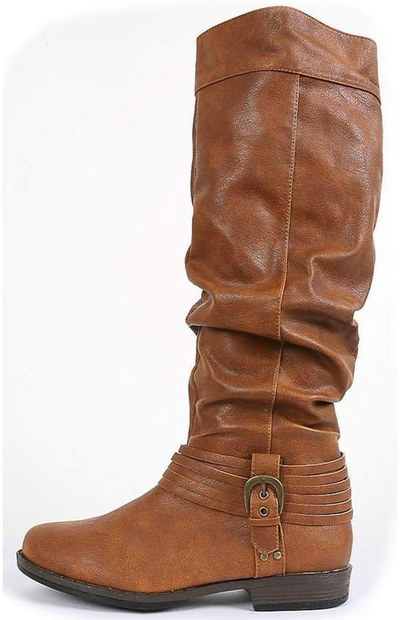 Bamboo Buckled & Belted Knee-High