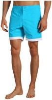 Lacoste Retro Piped Swim Trunk 8 (Hawaiian Blue) - Apparel