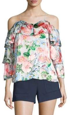 Alice + Olivia Mary Floral Blouse