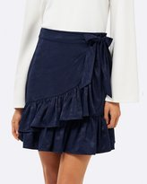 Forever New Maddie Ruffle Jaquard Mini Skirt
