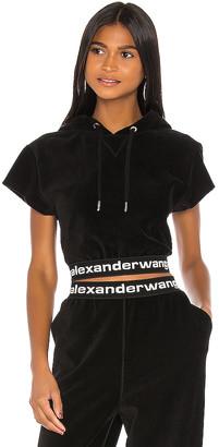 Alexander Wang Stretch Corduroy Cap Sleeve Hoodie