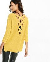 Express crossback v-neck shaker knit sweater