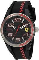 Ferrari Men's Quartz Plastic and Silicone Casual Watch, Color:Black (Model: 830336)