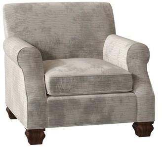 Bailey Salerno Armchair Duralee Furniture Body Fabric Ld Driftwood