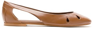 Sarah Chofakian Malee leather ballerina shoes