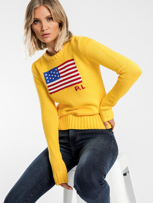 Polo Ralph Lauren Flag Knit in Yellow