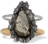 Alexander McQueen Silver And Gold-tone Stone Cuff