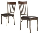Inspire Q Harston Mixed Media Dining Chair Metal/Pewter Gray (Set of 2)