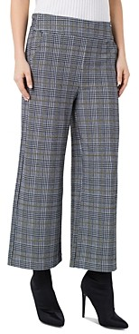 Liverpool Los Angeles Liverpool Mabel Plaid Cropped Wide-Leg Pants