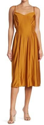Abound Sweetheart Sleeveless Smocked Waist Midi Dress