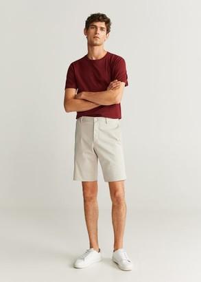 MANGO Pockets cotton Bermuda shorts