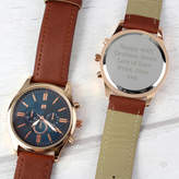 Sarah Hurley Mens Personalised Rose Gold Message Watch