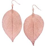 Gold Dipped Leaf Earrings