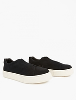 Eytys Black Suede Slip-On 'Doja' Sneakers