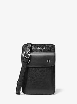Michael Kors Two-Tone Pebbled Leather Crossbody Bag - Black