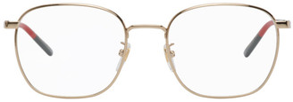 Gucci Gold Square Glasses
