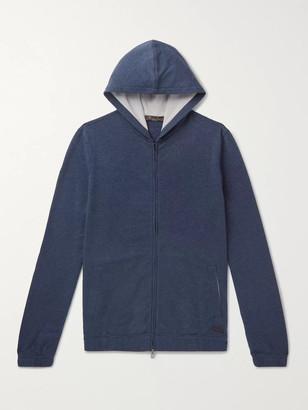Loro Piana Loopback Stretch-Cotton Jersey Zip-Up Hoodie